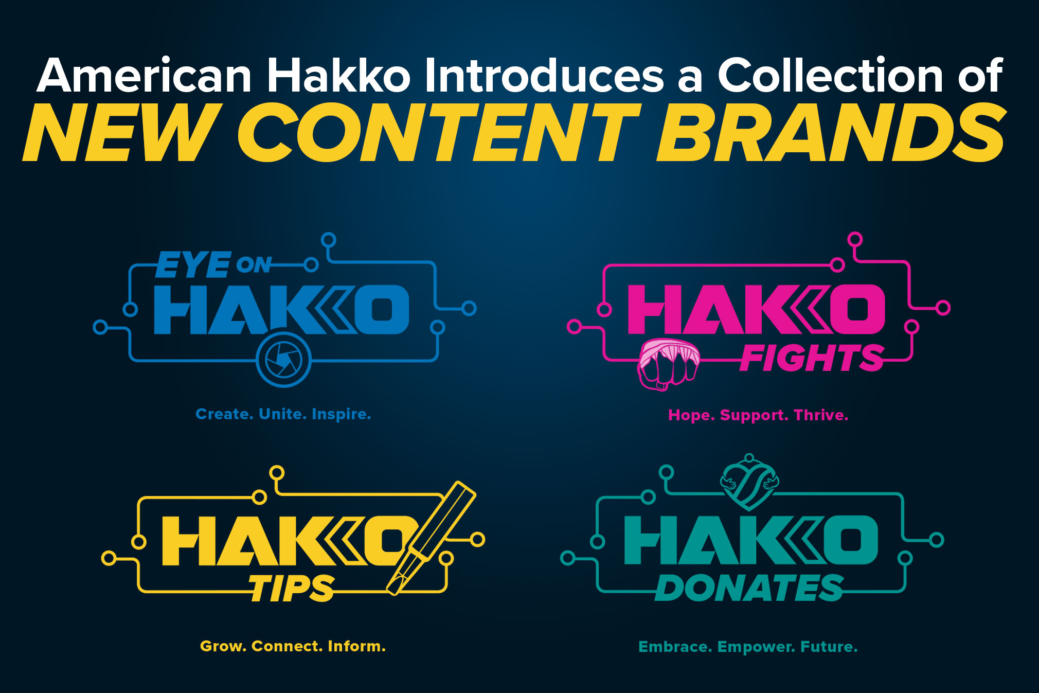 American Hakko Introduces a Collection of New Content Brands