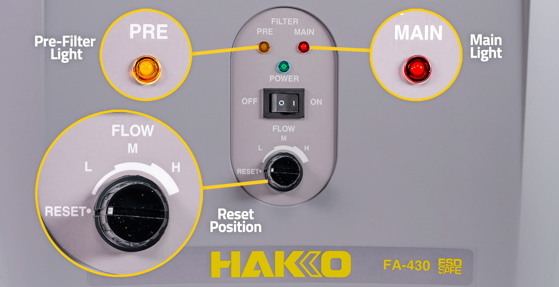 Hakko FA-430 Indicator Lights