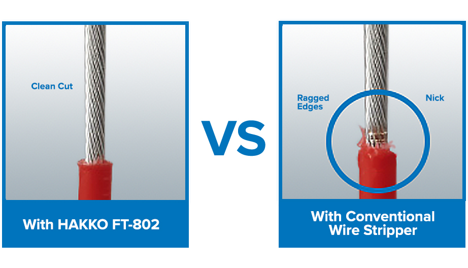 Hakko FT-802 Clean Cut VS Other Wire Strippers