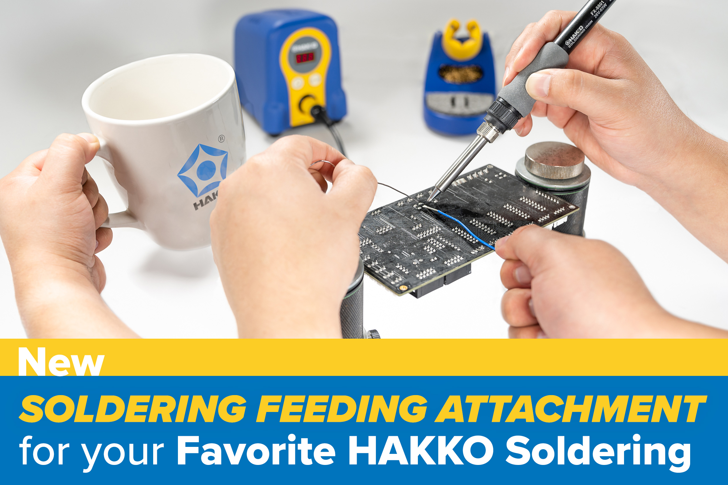New - Solder Feeding Attachment for your Favorite HAKKO Soldering Station