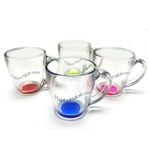 16 oz Assorted Glass Mugs
