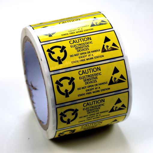 2.5 x 1 in. ESD Static Sensitive Labels