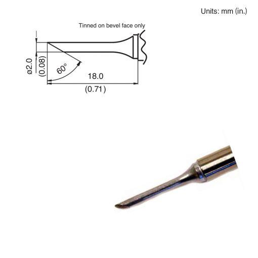 T15-CF2 Bevel Tip