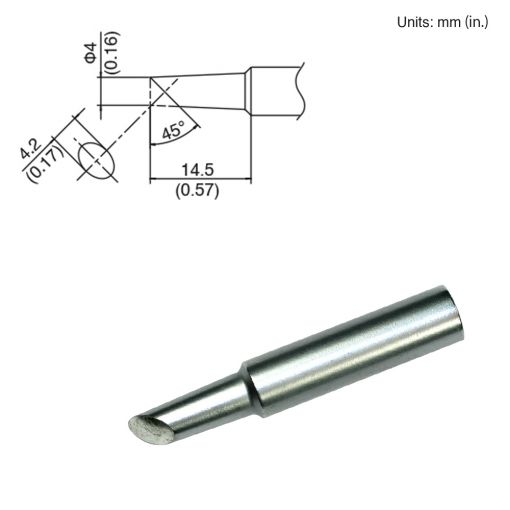 T18-CF4 Bevel Tip