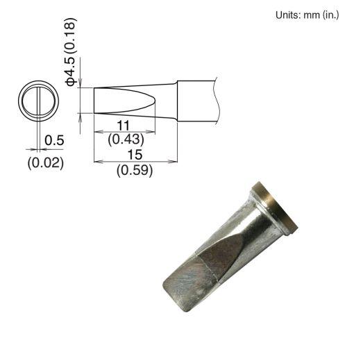 T22-D45 Chisel Tip