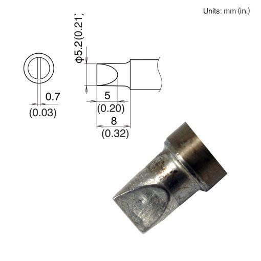 T22-D52 Chisel Tip