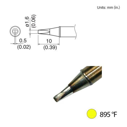 T31-00D16 Chisel Tip, 895°F / 480°C