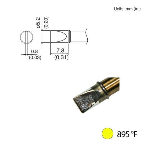 T31-00D52 Chisel Tip, 895°F / 480°C