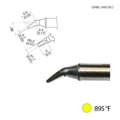 T31-00JD17 Bent Chisel Tip, 895°F / 480°C