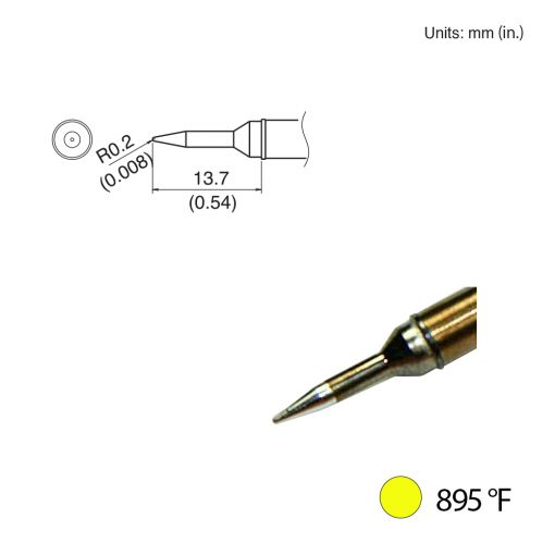 T31-00SBL Conical Tip, 895°F / 480°C