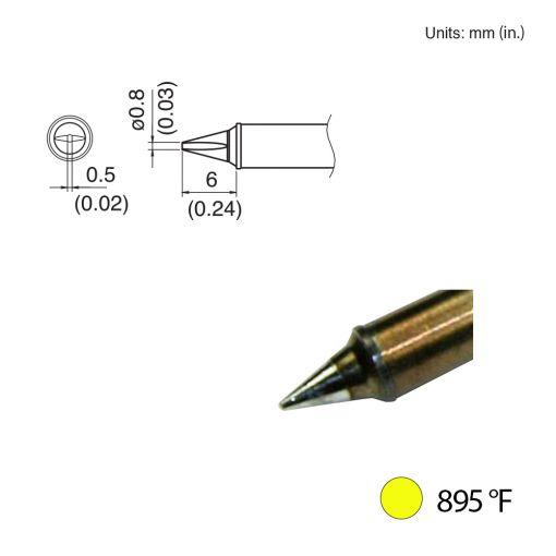 T31-00WD08 Chisel Tip, 895°F / 480°C