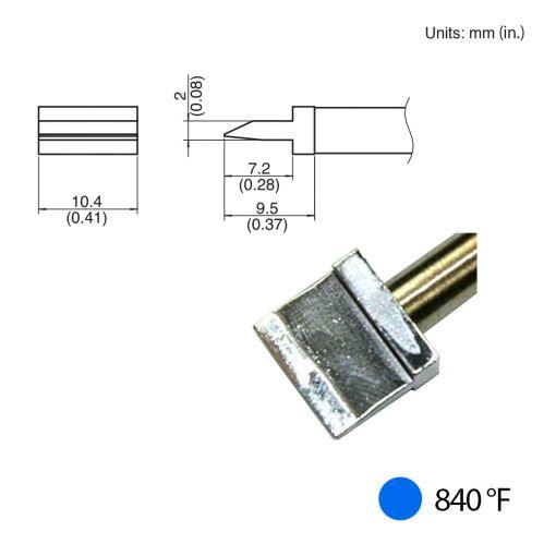 T31-011401 Spatula Blade Tip, 840°F / 450°C
