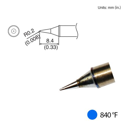 T31-01I Conical Tip, 840°F / 450°C