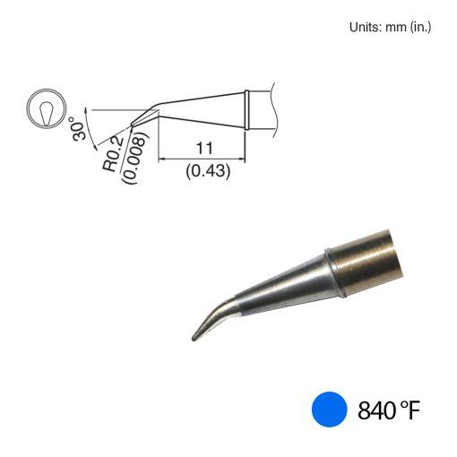 T31-01J02 Angled Tip, 840°F / 450°C