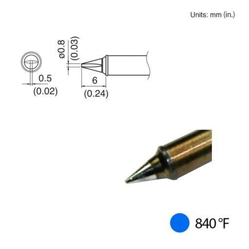 T31-01WD08 Chisel Tip, 840°F / 450°C