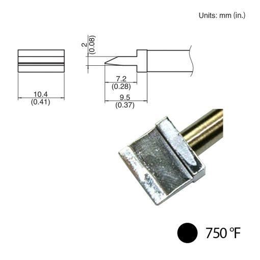 T31-021401 Spatula Blade Tip, 750°F / 400°C