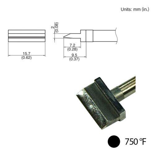 T31-021402 Spatula Blade Tip, 750°F / 400°C