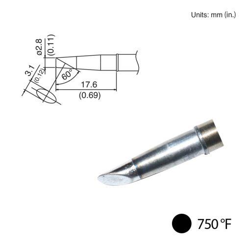 T31-02BC28 Bevel Tip, 750°F / 400°C