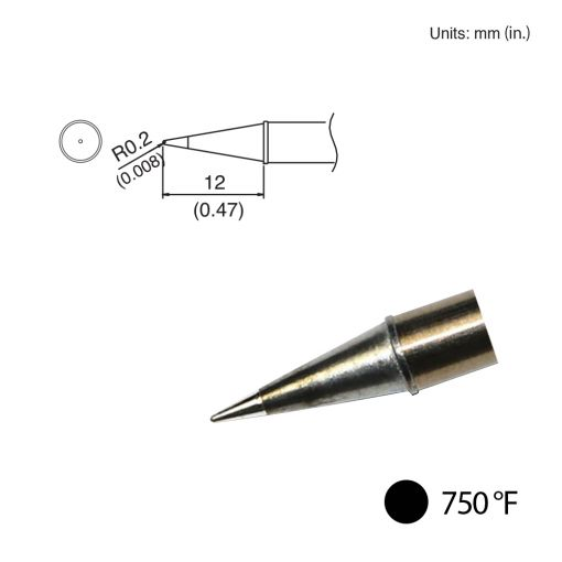 T31-02BL Conical Tip, 750°F / 400°C
