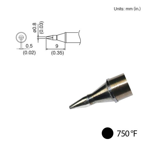 T31-02D08 Chisel Tip, 750°F / 400°C