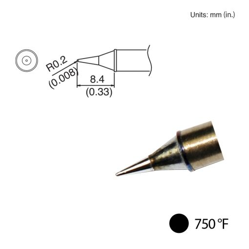 T31-02I Conical Tip, 750°F / 400°C