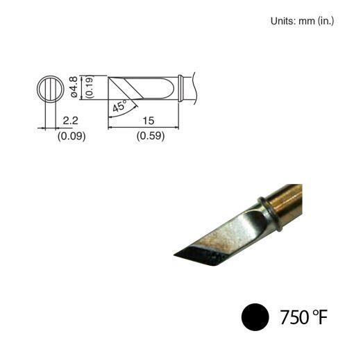 T31-02KU Knife Tip, 750°F / 400°C