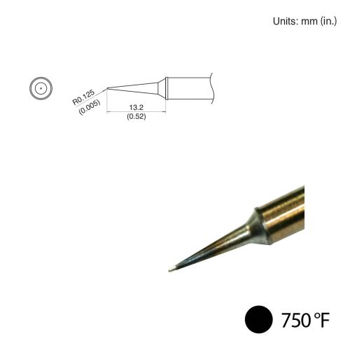 T31-02LI Conical Slim Tip, 750°F / 400°C