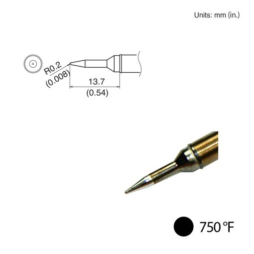T31-02SBL Conical Tip, 750°F / 400°C
