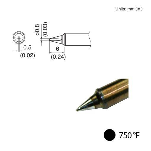 T31-02WD08 Chisel Tip, 750°F / 400°C