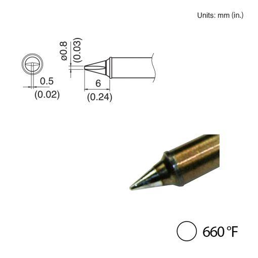T31-03WD08 Chisel Tip, 660°F / 350°C