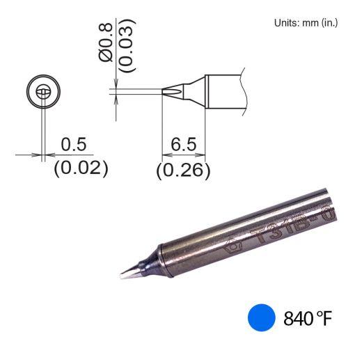 T31B-01D08 Chisel Tip, 840°F / 450°C