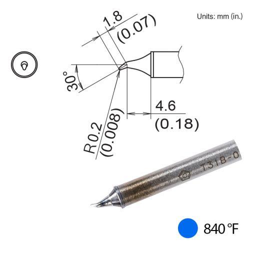 T31B-01JS02 Bent Tip, 840°F / 450°C