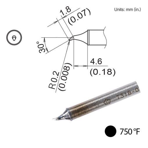 T31B-02JS02 Bent Tip, 750°F / 400°C