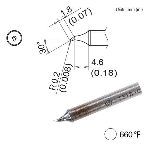 T31B-03JS02 Bent Tip, 660°F / 350°C