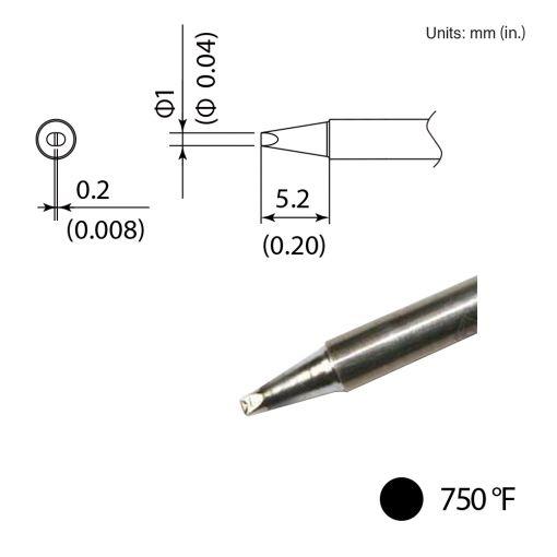 T35-02D1 Chisel Tip