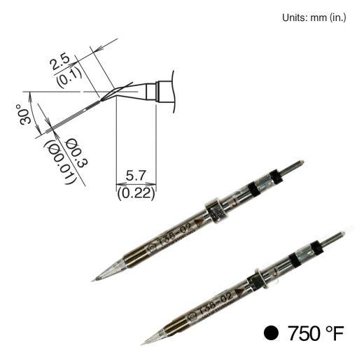 T38-02J Bent Tip, 400°C/750°F