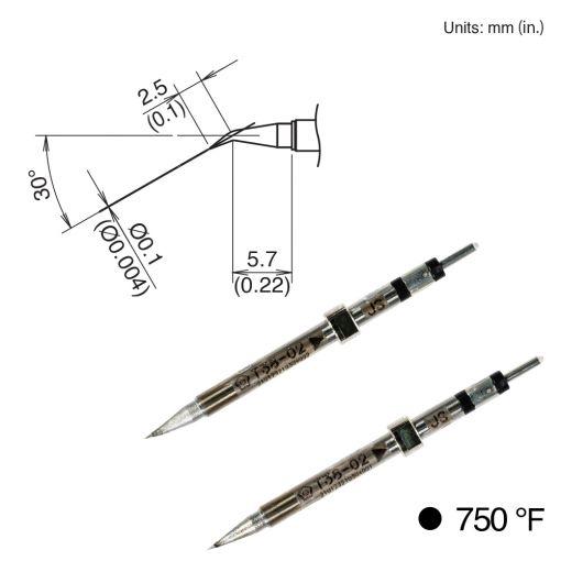 T38-02JS Bent Tip, 400°C/750°F