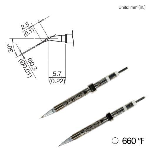 T38-03J Bent Tip, 350°/660°F