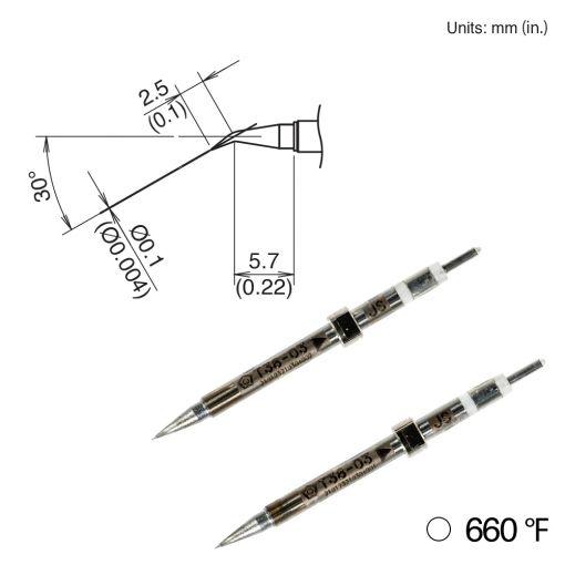 T38-03JS Bent Tip, 350°/660°F