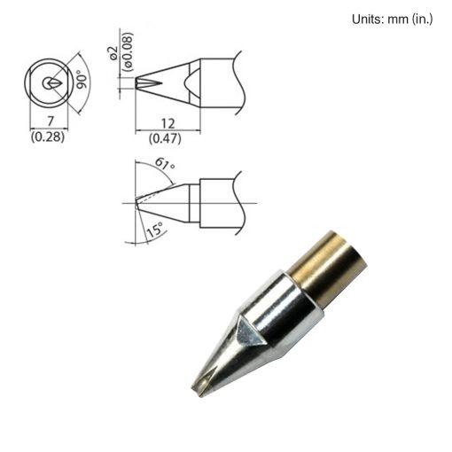 TX1-XBCR2, 140W Bevel Tip