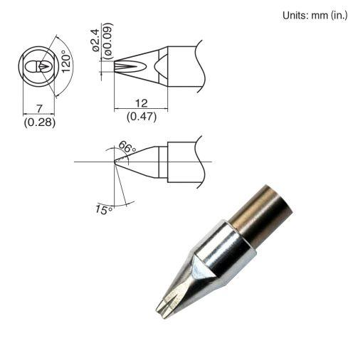 TX1-XDR24, 140W Chisel Tip