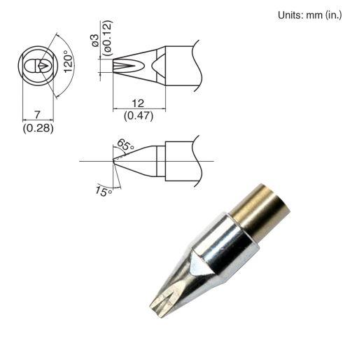 TX1-XDR3, 140W Chisel Tip
