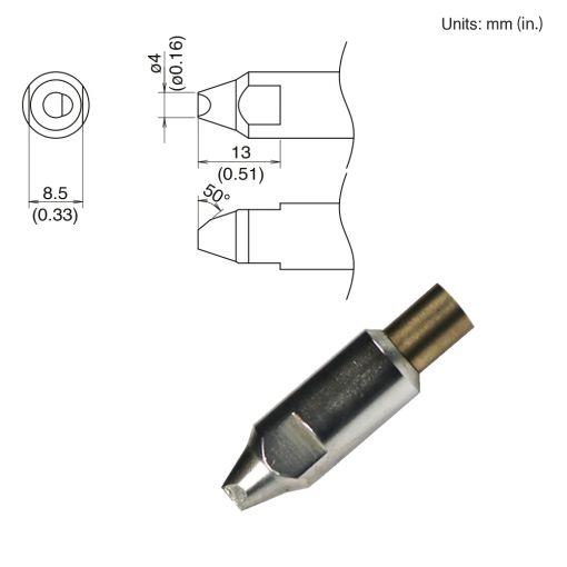 TX2-XNC40, 300W Bevel Tip